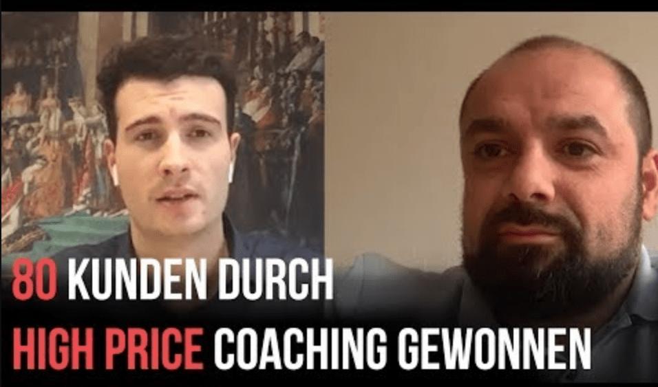 Tarkan Söhret: Mit einem High-Price Coaching in wenigen Monaten knapp 80 Kunden gewonnen! Mehr Geschäft – Online-Marketing