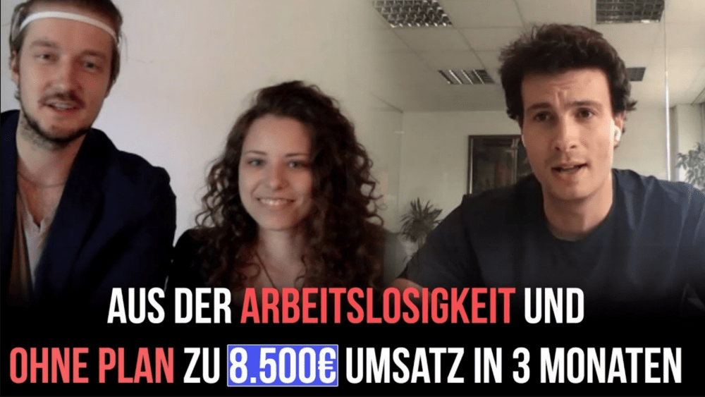 Maria & Dennis: Ohne Plan gestartet und nach 3 Monaten 8.500€ verdient und 3 Kunden gewonnen. Mehr Geschäft – Online-Marketing