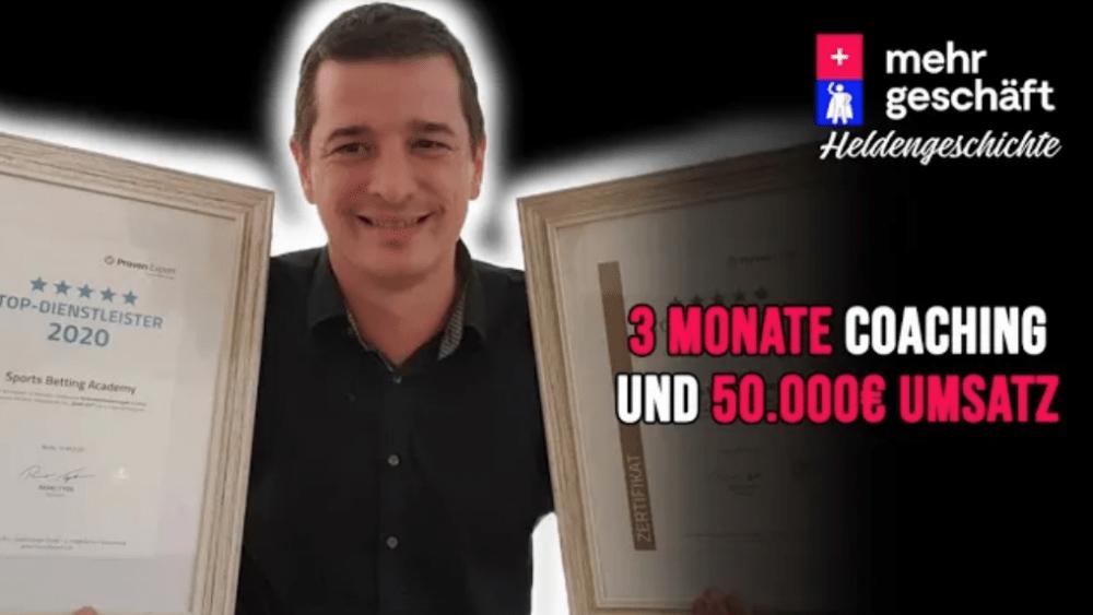 50.000€ Umsatz mit dieser Anleitung – Heldengeschichte von Daniel Winter-Holzinger Mehr Geschäft – Online-Marketing