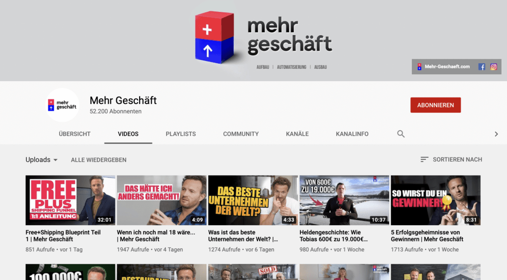 MG-Youtube Mehr Geschäft – Online-Marketing